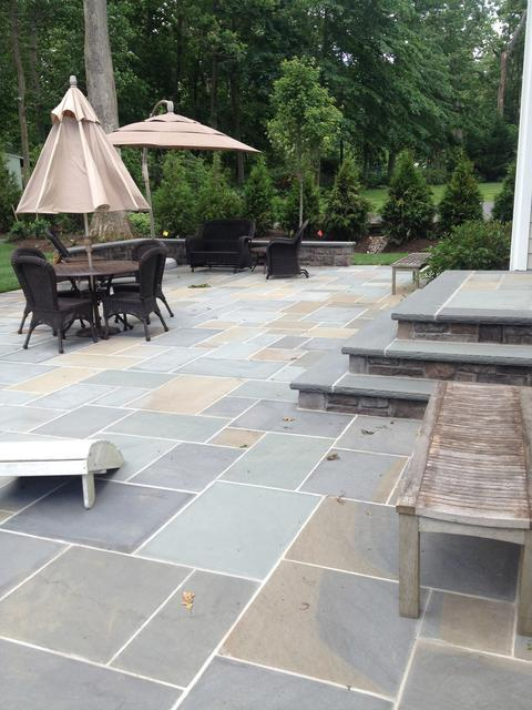 Bluestone Wet Laid Patio